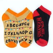 Странные Вещи короткие носки цветные колготки плотные милые модные ботильоны Повседневное платье, носки косплей подарок Otaku