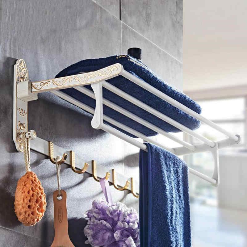 MAEBOW w stylu Vintage aluminium łazienka sprzętu zestaw do kąpieli półka na ręczniki szczotkę wc wieszak na ręczniki łazienka zestaw