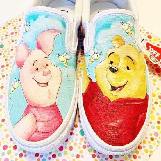 street dance pig Canvas Shoes Hand