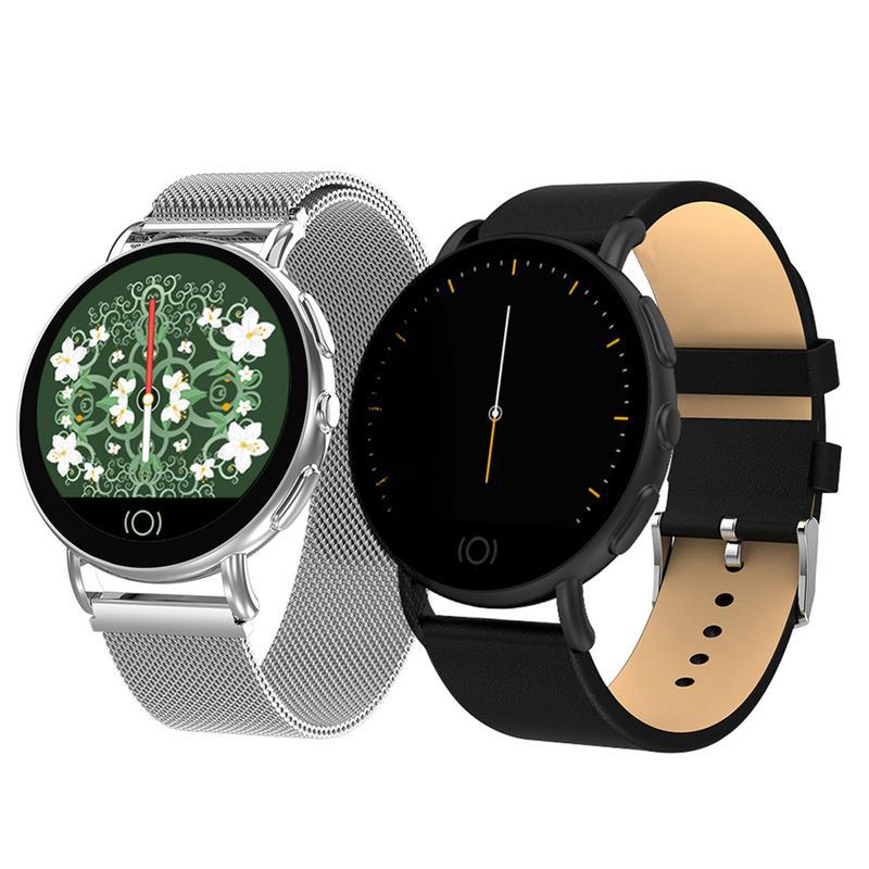 GIMSR montres montre intelligente Business mode métal cuir apporter rappel Bracelet intelligent pour hommes et femmes décontracté Bracelet intelligent