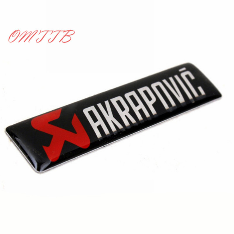 3D Aluminum Emblem Badge Sticker For AKRAPOVIC Vehicle Truck Motorcycle Car Body Side Door auto Accessories Car Styling 1x car styling 3d metal emblem car body side stripe fit camaro corvette colorado for licensed stickers 3d sticker badge emblem