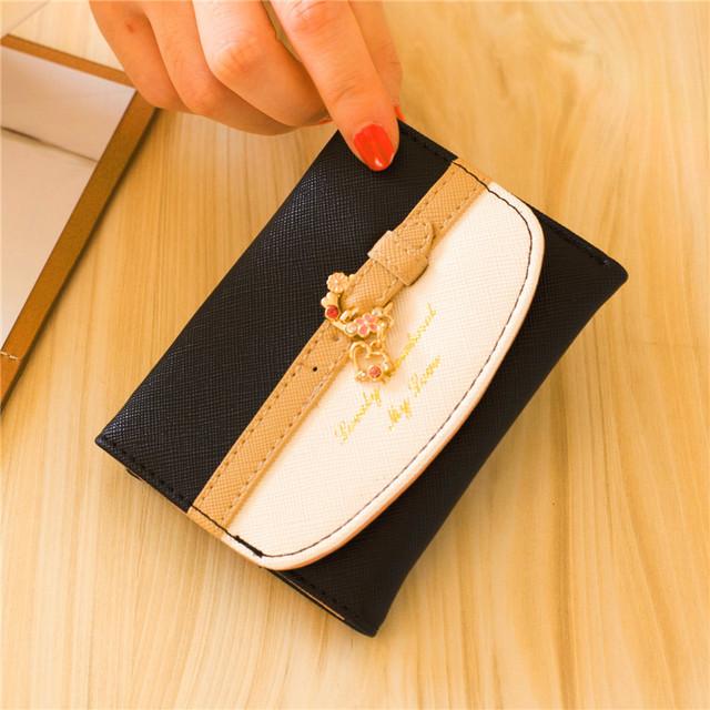 Women Lady Girl Cute Mini Wallet Elegant Card Holder