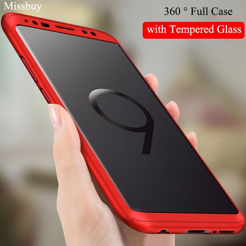 pretty nice 1faa9 ad6a2 360 Degree Phone Case For Samsung Galaxy S9 S8 S7 Note 9 8 C9 C7 Pro J4 J6  A6 Plus J8 A8 2018 J5 J7 Prime Shockproof Full Cover