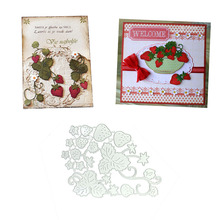Julyarts Dies Scrapbooking Templates Strawberry Greeting Cutting Carbon Steel Embossing Stencil Card