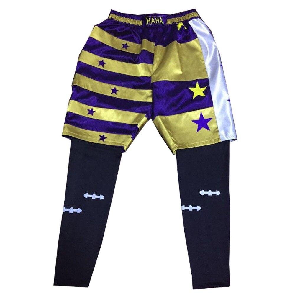 2018 Handmade Suicide Squad Jared Leto Joker Cosplay Costume Btman Leggings +Short Unisex Any Size
