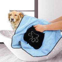 JORMEL Pet Drying Towel Ultra-absorbent Dog Bath Microfiber Soft Material Paw Print