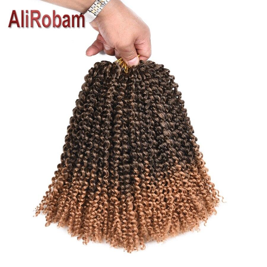 AliRobam Curly Crochet Braids Hair 24Strands Ombre Kinky Twist Hair