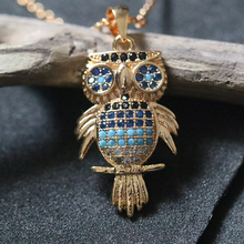 купить Collier Femme Owl Pendant Necklace For Women Collares Choker Collier Bijoux Copper Rose Gold Chain Jewelry дешево