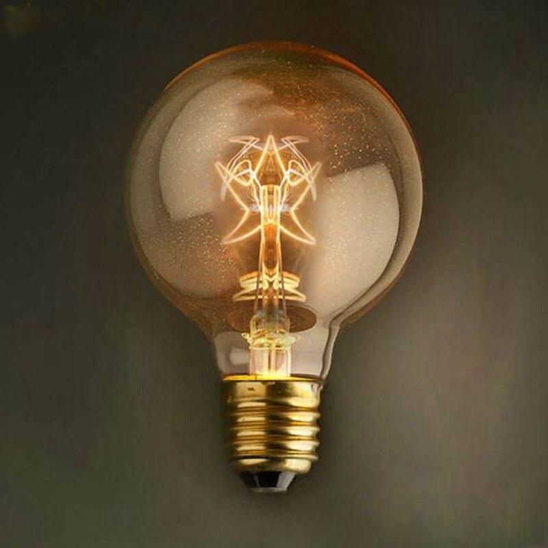Vintage Edison Light Bulb E27 40w G80 Stars Style Retro Incandescent Globe Light Bulb Lamp For