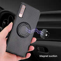 Car Magnet Cases for Samsung Galaxy A3 A5 A7 2017 A8 A9 Plus A70 A30 A10 S10E S9 S8 Plus S7 edge Covers Finger Ring Shell Coque