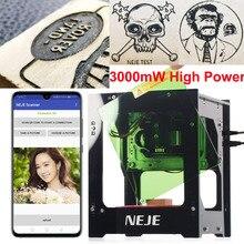 NEJE DK-8-KZ 3000 МВт лазерная гравировальная машина AI Smart DIY USB мини лазерный гравировщик с ЧПУ режущий маршрутизатор для Windows/Mac