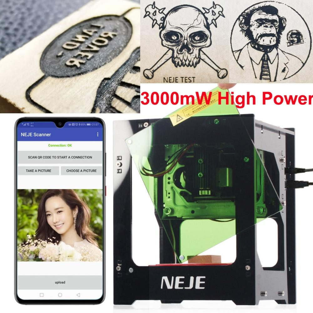 NEJE DK-8-KZ 3000mW Laser Engraving Machine 445nm AI Smart DIY USB Mini High Power Speed Laser Engraver CNC Cutting Router