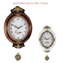 European Vintage Wall Clock With Pendulum