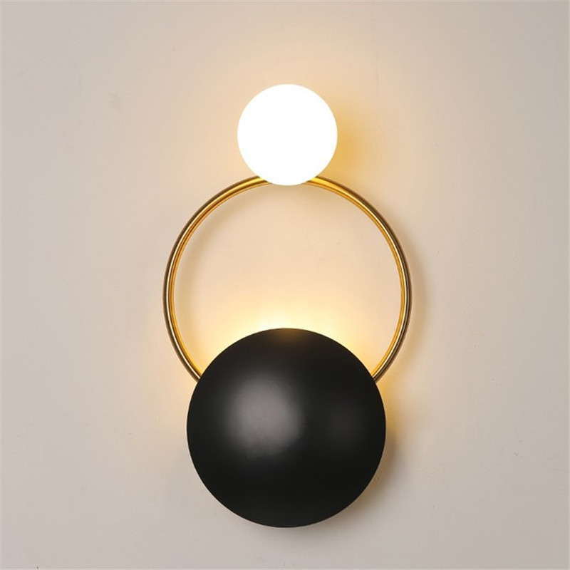 New Postmodern creative hardware living room wall light art bedside bedroom designer model room wall lamp