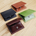 LANSPACE original men's leather coin purse brand mini small wallet