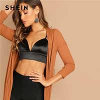 Shein preto decote em v profundo sutiã com zíper de volta sexy triângulo copo fio livre feminino verão 2019 sólido lingerie sutiãs