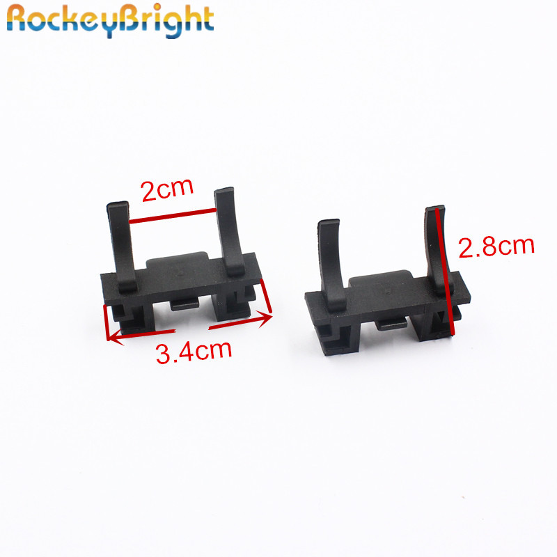 Rockeybright 2X H7 Headlight Adapter For Land Rover Discovery For Ford Focus For Fiat Led Head Lamp Holder Base Socket Retainer