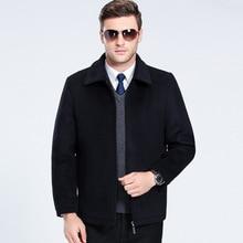 New Arrival Fashion Autumn Winter Men Overcoat Casual Thick Mens Wool Coat Short High Quality Plus Size M L XL 2XL 3XL 4XL