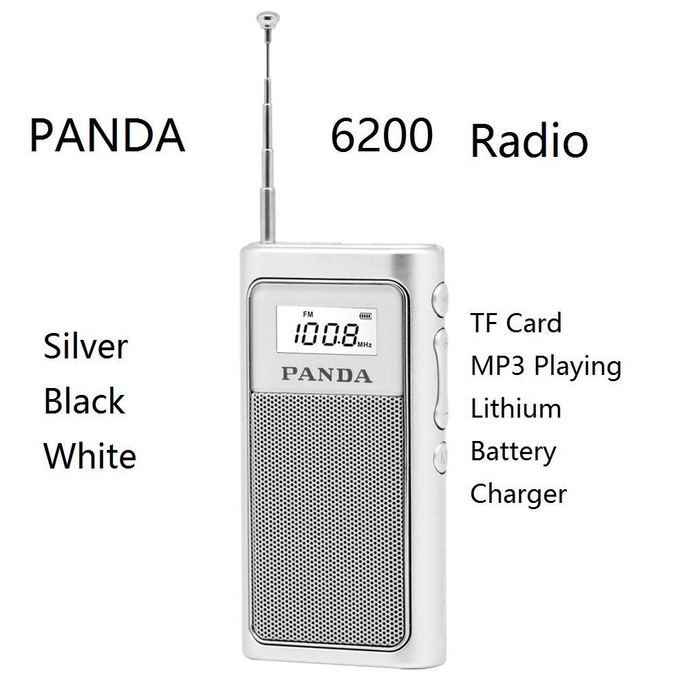 PANDA 6200 Card Radio TF Card MP3 Lithium Battery Charger Portable DSP FM Speaker Environmental protection