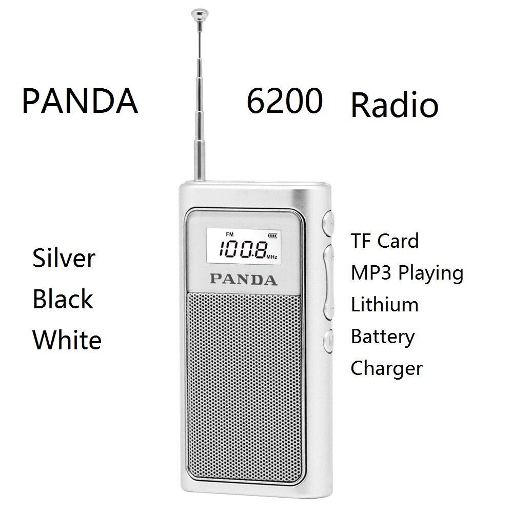 Unterhaltungselektronik Erfinderisch Panda 6200 Karte Radio Tf Karte Mp3 Lithium-batterie Ladegerät Tragbare Dsp Fm Lautsprecher Umweltschutz Lithium-batterie Fein Verarbeitet