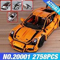 Stock LEPIN 20001 Technic Series Race Car Model 20001B Building Kit Blocks Bricks Set 42056 Educational