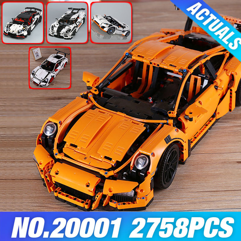 LEPIN 20001 Technic Series Race Car Model 20001B Building Kit Blocks Bricks set 42056 Educational 23002 MOC 4789 23006 DIY Gifts