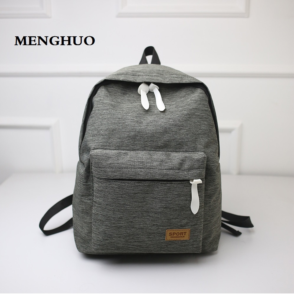Male Canvas Backpack College Student School Backpack Teenagers Vintage Mochila Rucksack Travel