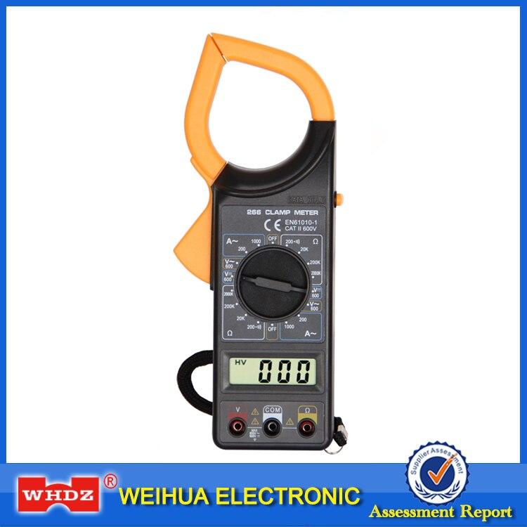 WHDZ DT266 Digitale Strommesszange Summer Data Hold berührungslose Multimeter Voltmeter Amperemeter Ohmmeter Ohmmeter Volt AC DC