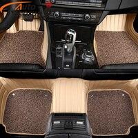 AutoDecorun Custom Fit PVC Leather Car Floor Mats For Lincoln MKX MKZ MKC MKT Car Mat durable Interior Accessories Auto Carpets