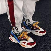 Мужская повседневная обувь кроссовки папа обувь мужские зимние классические Высокая платформа массивные кроссовки черные и белые кроссов...