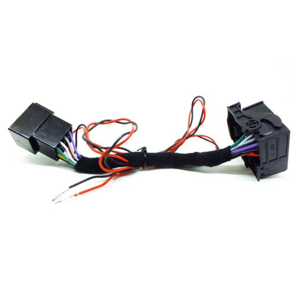 Автомобильный радиоприемник ISO, адаптер, кабель переключателя RCD330 RCD510 RCD310 RNS510, CD-проигрыватель CAN для VW Polo Jetta Golf Tiguan Passat CC