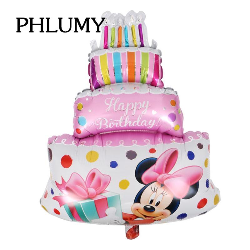 Tremendous Phlumy Large Mickey Minnie Birthday Cake Foil Balloons Wedding Funny Birthday Cards Online Alyptdamsfinfo