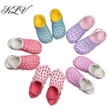 KLV/eva женские сабо летняя КРОК пляжная обувь Открытые сандалии отверстие Женская дышащая обувь сандалии больше цветов