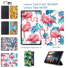 MTT Flamingo 2017 New Case For lenovoTab 3 8 8.0 TB3-850F 850M PU leather stand protective cover for lenovo tab 2 A8-50f tablet