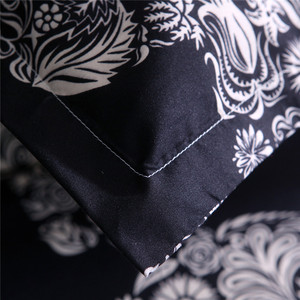 Image 5 - Bonenjoy Schwarz Farbe Bettbezug Königin Größe Luxus Zucker Schädel Bettwäsche Set König Größe 3D Schädel Bettwäsche und Bett Sets