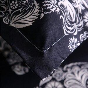 Image 5 - Bonenjoy siyah renk nevresim kraliçe boyutu lüks şeker kafatası nevresim takımı kral 3D kafatası yatak takımları ve yatak setleri