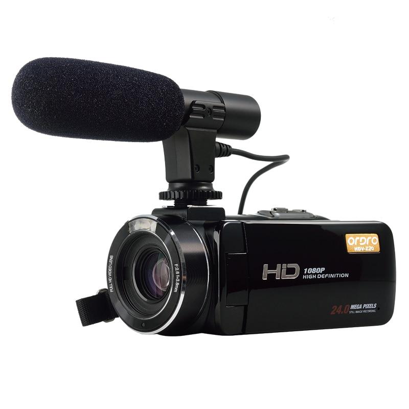 KaRue ORDRO HDV-Z20 Portable Digital Video Camera HD 1080P 24MP WiFi Video Camera 16x Zoom Camcorder DV Camera Digital Video цена