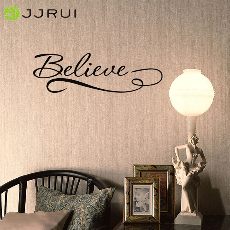 JJRUI Believe Quote Removable Vinyl Wall Art Quotes Decal ...