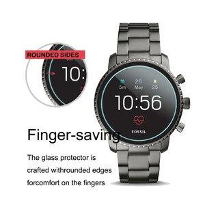 Image 3 - 2Pack Für Fossil Q Explorist HR Gen 4 0,3mm 2,5 D Klar Gehärtetem Glas Screen Protector Smartwatch Bildschirm schutz Schutz Film