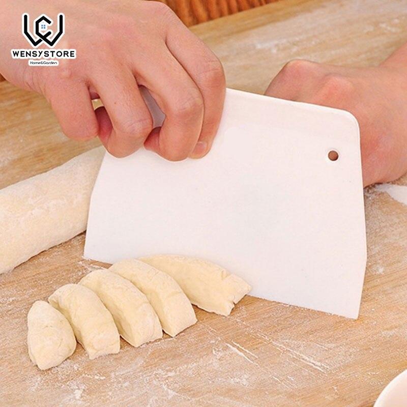 1Pc Plastic Pastry Cutters Icing Fondant Scraper Edge Plain Smooth Cake Paddle Spatulas Baking Tools Xx5 Dough Knife