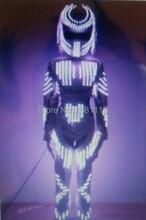 LED Costume /LED Clothing/Light suits/ LED Robot girl suits/ Luminous costume/ trajes de LED