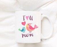 Mothers Day Bird Mom Mugs Beer Travel Cup Coffee Mug Tea Cups Home Decor Novelty Friend