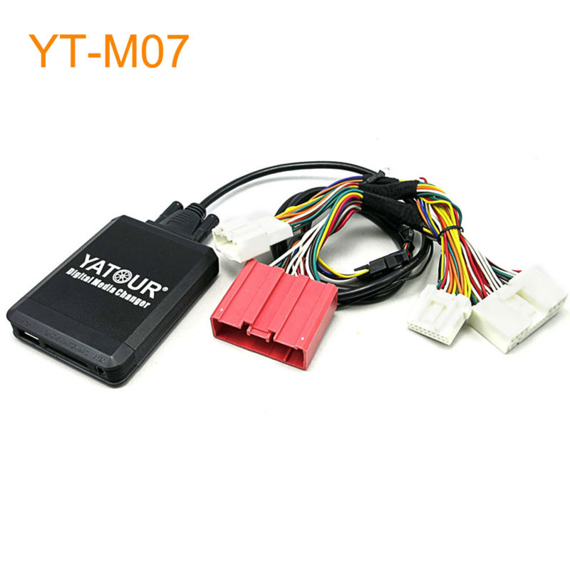 Yatour Car MP3 USB SD CD Changer for iPod AUX with Optional Bluetooth for Mazda 3 5 6 CX5 CX-5 CX7 CX-7 RX8 RX-8 yatour car adapter aux mp3 sd usb music cd changer 8pin cdc connector for renault avantime clio kangoo master radios