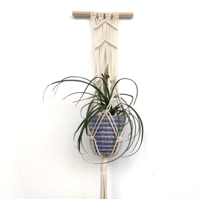 Vintage Macrame Plants Hanger Hook Flower Pot Holder String Hanging Rope Wall Art Home Garden Balcony Decoration