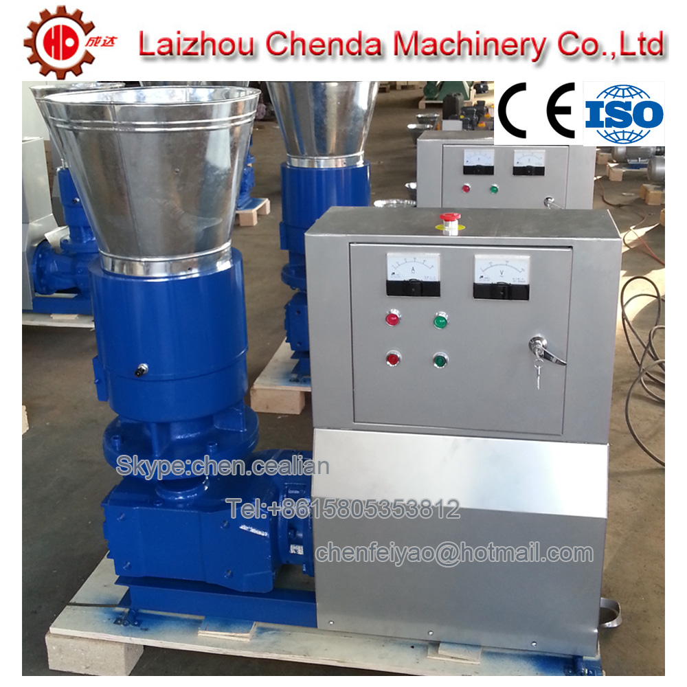 MKL225 Roller Driven Electric Wood Pellet Machine With Roller And Die(ship By Sea)