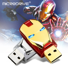 hotsale iron man pen drive 4 gb 8 gb 16 gb 32 gb pendrive 64 gb 128 gb usb flash drive met led licht memoria usb