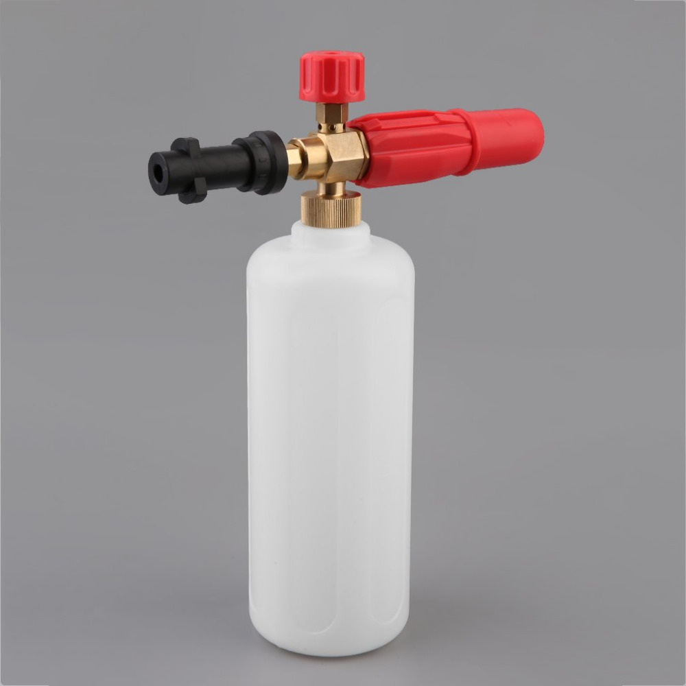 New High Pressure HD Brass Foam Gun With 1L Measuring Bottle For Karcher K Series Vehicle Car Washer Snow Foam Lance