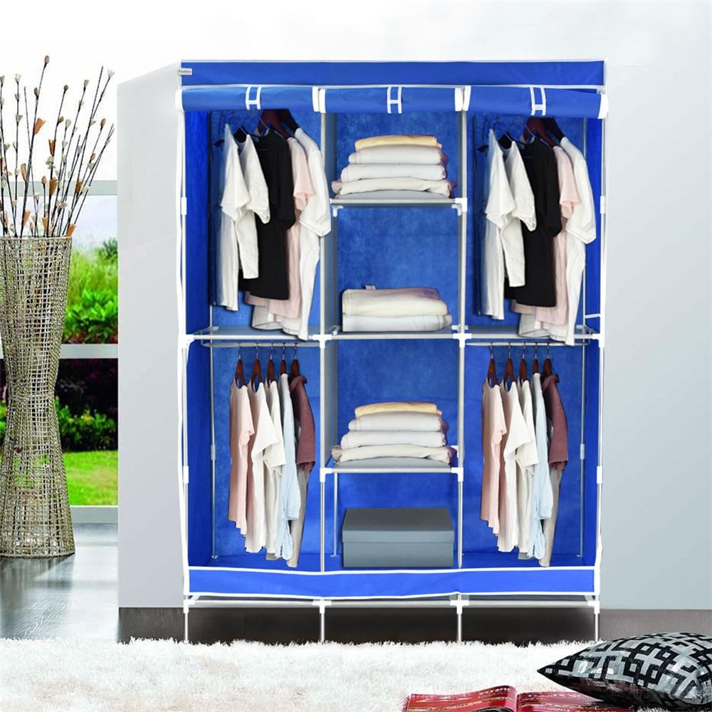 Finether Tragbare Schrank Veranstalter Stoff Kleiderschrank Leinwand ...