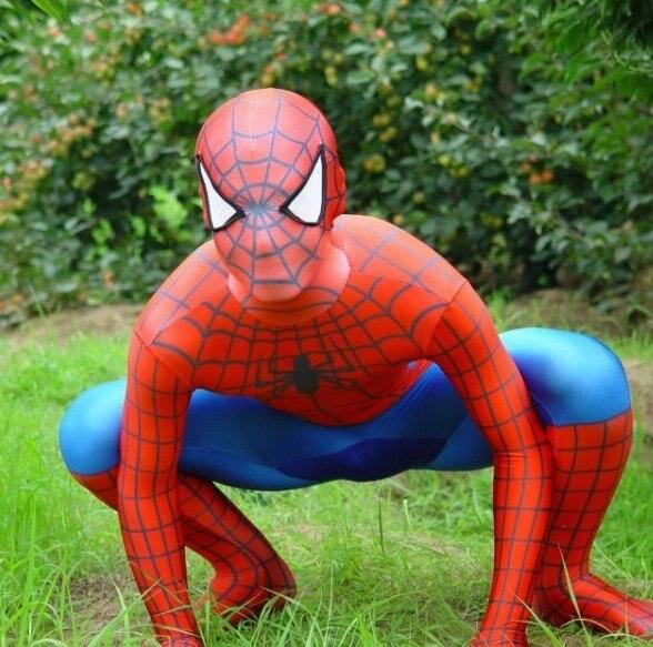 Косплей красный лайкра/купальник из спандекса Человек-паук Питер Бенджамин Паркер костюм взрослый размер