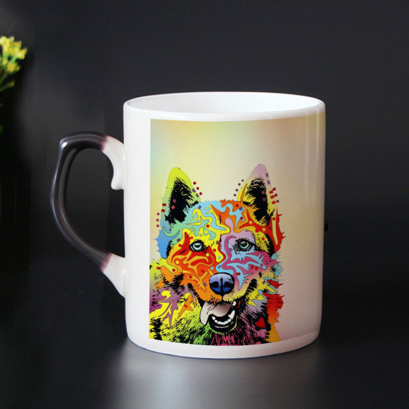 95c41fe8357 High Quality Bone china dog mug color changing magic mugs cup Tea coffee mug  cup zombie cups best gift for friends